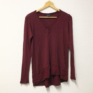 Anthropologie Left of center tunic blouse XS